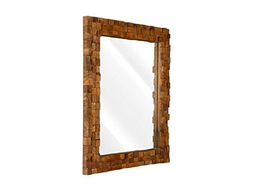 massivum Spiegel Abadi 75x63x5 cm Palisander braun lackiert