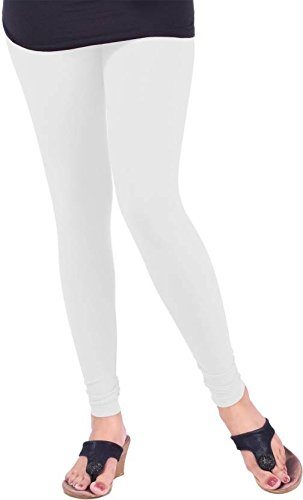 Lux Lyra_Women's Cotton Chudidar Legging_MF14_White_Freesize