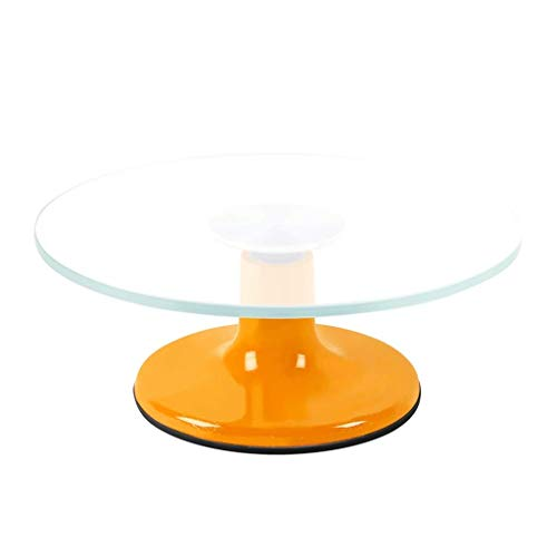 SMLZV Kuchendekorationszubehör Ausgeglichenes Glas Drehteller for Kuchen Rutschfester Boden Drehteller Dessert-Laden Backenwerkzeuge