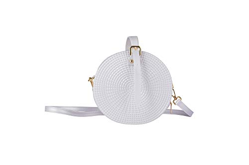* ENJOY SUPERIOR STYLE with this marvelously fashionable round rattan look bag. Now you have the look that's sweeping the fashion world. This is one of the finest made with all the benefits of modern design and materials. * DURABLE PVC JELLY gives yo...