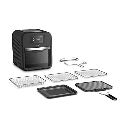 Tefal FW5018 Easy Fry Oven & Grill 9-in-1 Heißluftfritteuse | 11 Liter für 6 Portionen | 7 Zubehörteile | 8 Programme | Online-Repte | Timer | gesund kochen | schnell & energieeffizient | schwarz