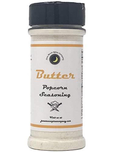 Premium | BUTTER Flavored Popcorn Seasoning | Large Shaker | Calorie Free | Fat Free | Saturated Fat Free | Cholesterol Free | Low Sugar