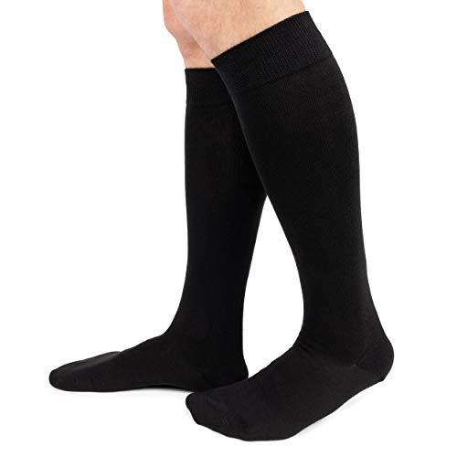 Ciocca Herren-Socken, lang, warm, gezwirnte Baumwolle, strapazierfähig, 6 Paar, zwei Größen, 450, Schwarz, 450 35