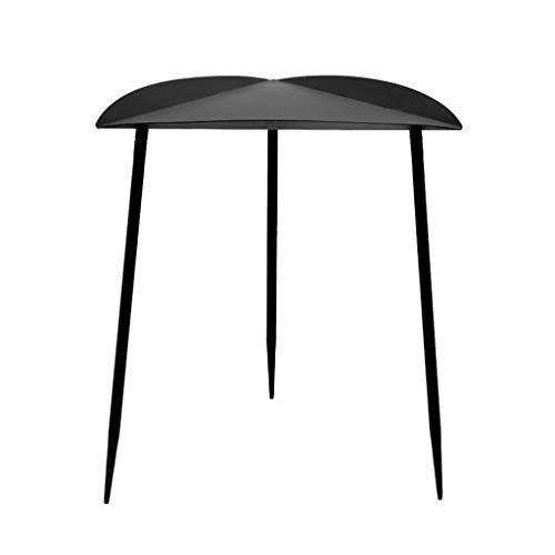 Table d'appoint en métal Table de Chevet Petit café Support Multifonctionnel Étagère Canapé Salon Chambre Terrasse Série Moderne Noir