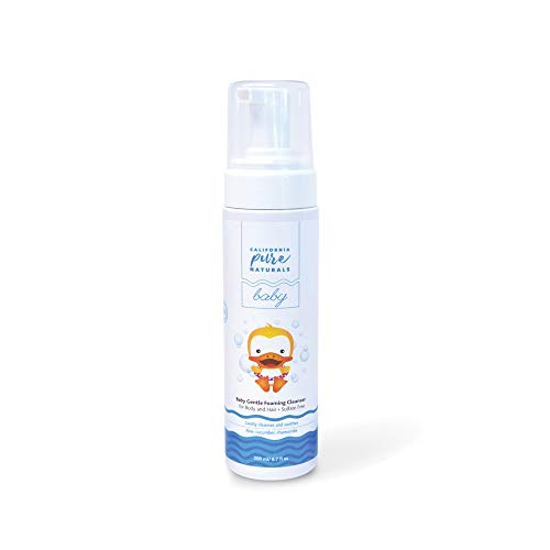 California Pure Naturals Baby Gentle Foaming Cleanser. Organic Formula for Hair and Body with Aloe Vera and Chamomile. Free of Sulfates, Phthalates, Gluten, Artificial Fragrances (6.7 Ounce)