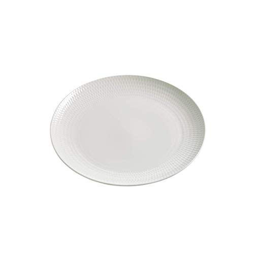 Maxwell & Williams Basics Diamonds Entree Assiette, Blanc, 23 cm