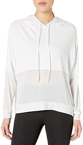 Body Glove Active Women s Juno Loose FIT Activewear Long Sleeve Hoodie Snow Medium product image