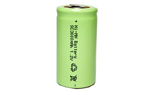 正規容量 国内から発送 22.5x43mm NI-MH Sub-C SC ニッケル水素 ミニ単2 サブC セル エアガン 電動ガン ドライバー ドリル 工具 掃除機 充電池 バッテリー