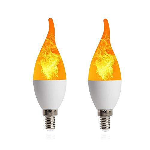 Led Vlam Effect Fire Gloeilampen Led Vlam Effect Licht Lamp Nachtlampje Lampen Kaars Led-lampen Kaars Gloeilampen Schroef Kaars Gloeilampen 2,2pack