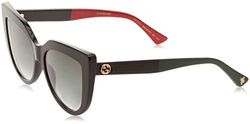 Gucci GG0164S 003 Gafas de sol, Negro (3/Green), 53 para Mujer