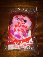Mcdonald's 2014 Ty Teenie Beanie Boo's # 5 Spells the Pink Owl Happy Meal Toy Plush