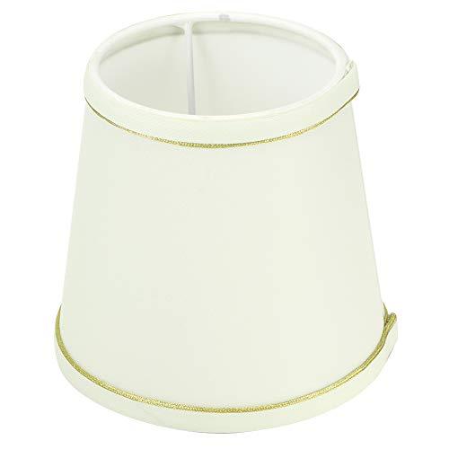 HERCHR 6 Piezas de Pantallas de lámpara pequeñas para lámparas de Mesa, reemplazo de Pantallas de lámpara de Barril de Tela para lámpara de Pared de araña de 4,3 x 5,5 x 5,9 Pulgadas