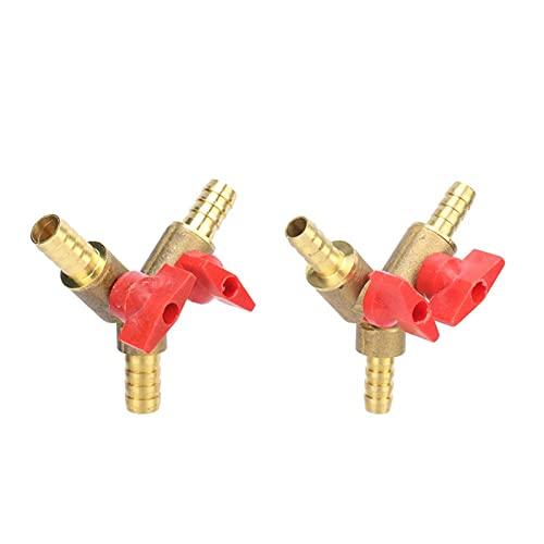 NNMB Duradera 8mm 10 mm Manguera de la Manguera y en Forma de Tres Formas de latón Cerrado la válvula de Bola Conector de conexión del Tubo Adaptador de Conector for Gasolina de Gas de Gas A