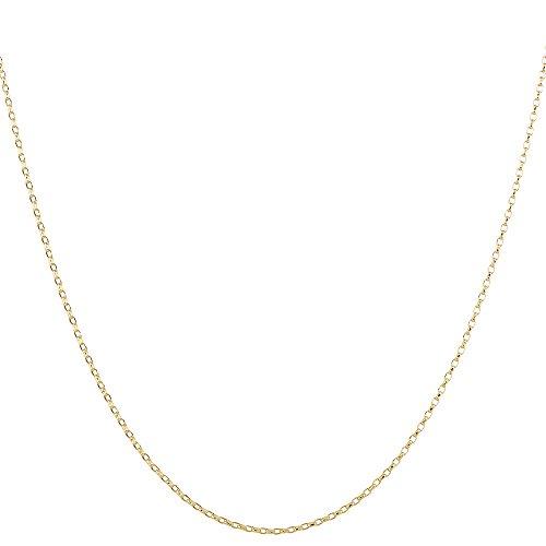 Collar cadena pulsera tobillera Tipo Belcher de fina plata de ley 925 bañada en oro 14kt 2mm Bisutería Italiano Mujer Hombre - 15, 20, 25, 30, 35, 40, 45, 50, 55, 60, 65, 70, 75, 80, 85, 90, 95, 100cm