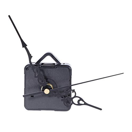 DOITOOL 1 piezas kit de movimiento reloj de cuarzo silencioso mecanismo de reloj diy maquinaria reloj pared maquinaria de reloj con agujas de pared con con 3 agujas (negro,sin batería)