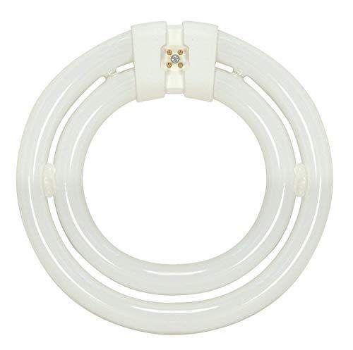 Satco 3000K 55-Watt 4 Pin T6 2C Circline Lamp, Soft White -2 Pack