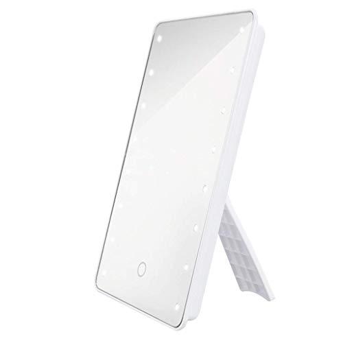 Espejo de maquillaje LED de escritorio con espejo de maquillaje de pantalla táctil Xuan - vale la pena tener (color: -, tamaño: -)