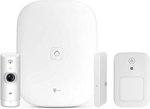 Telekom Magenta SmartHome Starter Set Zuhause im Blick - Home Base 2 - Innenkamera Basic - Tür-/Fensterkontakt Optisch - Bewegungsmelder Innen