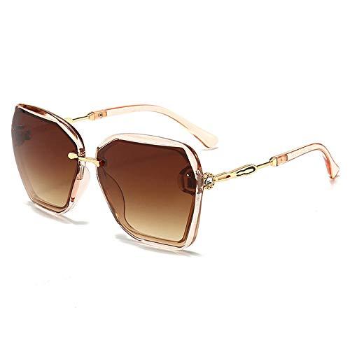 hqpaper Sonnenbrille weibliche Sonnenbrille koreanischen Stil UV-Schutz Mode-Teekiste asymptotischen Tee