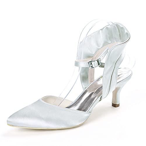 Mujer Sexy Zapatos De Boda Tacón De Gatito Sandalias De Punta Puntiaguda...