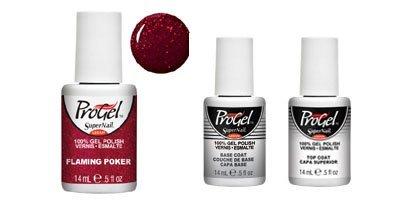 New Flaming Poker Supernail - smalto ProGel–14ml + ProGel base coat and top coat.
