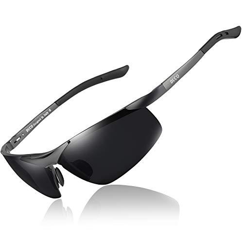 DUCO Sport Stil Sonnenbrille Polarisiert Herren Treiber Brille 6806S (Gunmetal/Grau)