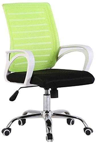 TTZY Silla de oficina para ordenador, cómoda y transpirable, resistente al desgaste, fácil de limpiar, silla de dormitorio acolchada para el personal (color: negro1) SHIYUE (color: verde 1)