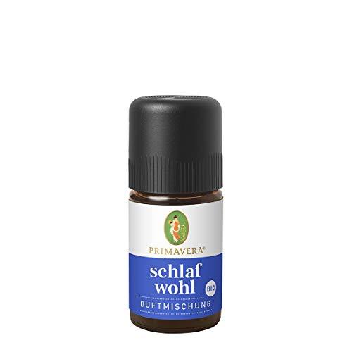 PRIMAVERA Schlafwohl Duftmischung bio 5 ml - Badezusatz mit Lavendel, Vanille und Neroli - Aromatherapie, Duftöl - beruhigend, entspannend - vegan