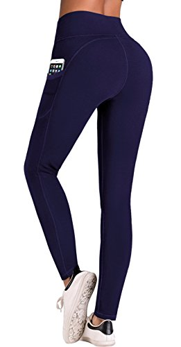 IUGA Yoga Pants with Pockets, Tummy Control, Workout Running Leggings with...