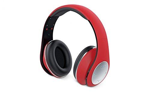 Genius HS-935BT Mobiles Headset Binaural Kopfband Rot - Mobile Headsets (Verkabelt, Kopfband, Binaural, Ohraufliegend, 160-20000 Hz, Rot)