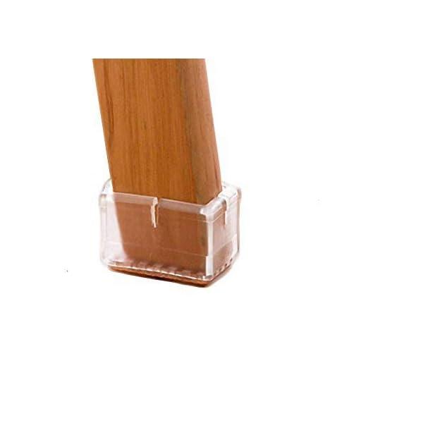 LimBridge Chair Leg Wood Floor Protectors Chair Feet Caps Felt Pads Rubber Style...