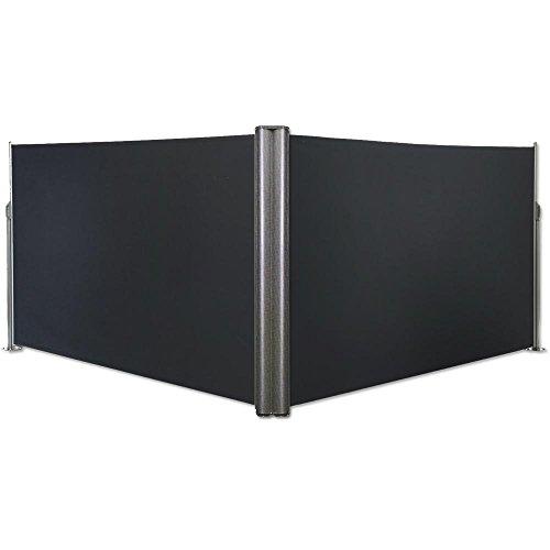 Jawoll Doppel Seitenmarkise 1,8 x 6 m anthrazit Eck Markise Sichtschutz Windschutz Sonnenschutz