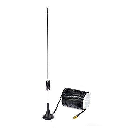 Eightwood Antenne Voiture Antenne Dab Adaptateur MCX 5dbi Voiture Radio Numérique Auto Dab Extension Câble Antenne Voiture 5m pour Dab Autoradio Pioneer Clarion Kenwood Alpine JVC