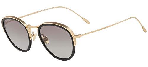 Armani Gafas de Sol Giorgio FRAMES OF LIFE AR 6068 Pale Gold Black/Grey Shaded 50/22/150 hombre