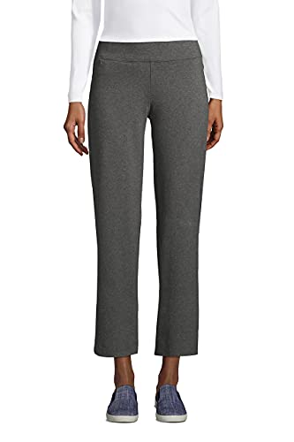 Lands' End Womens Starfish Crop Pants Charcoal Heather Plus 3X
