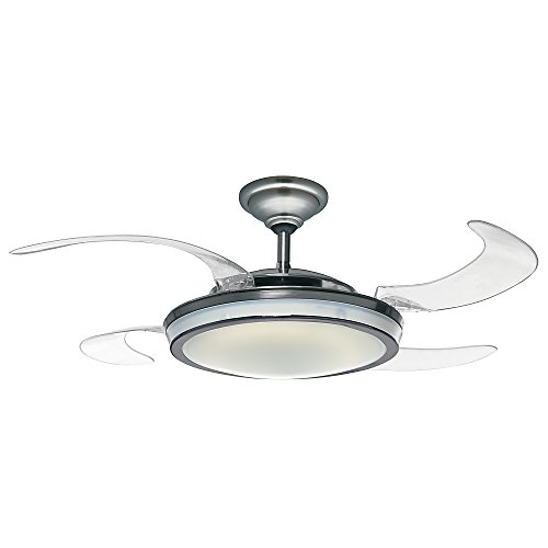 Hunter Fanaway Indoor Ceiling Fan with Lights and Remote Control, 48', Brushed Nickel