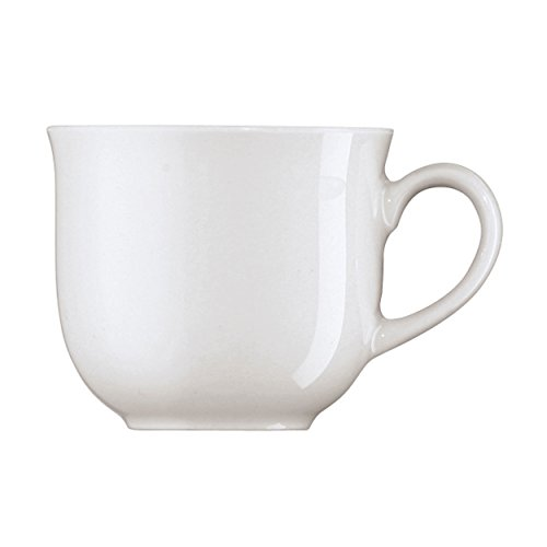 Arzberg Form 1382 Espressotasse, Obertasse, Espresso Tasse, Mokkatasse, Ristrettotasse, White, Porzellan, 100 ml, 41382-800001-14722