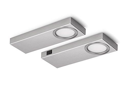 Naber Rea 1 LED Set/2 S avec interrupteur/unterboden Lampe/A + +/2 W Blanc Neutre