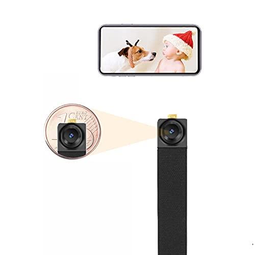 Mini Kamera, HD Kleine Überwachungskamera mit APP, Tragbare Mikro Sicherheitskamera Innen mit Bewegungsmelder, WLAN IP Kamera Videorecorder, WIWACAM MW3 Neo, Deutscher Support