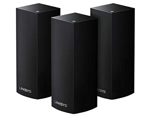Linksys Velop Tri-Band AC6600 Whole Home WiFi Mesh System Black- 3-Pack (Coverage up to 6000 sq. ft)