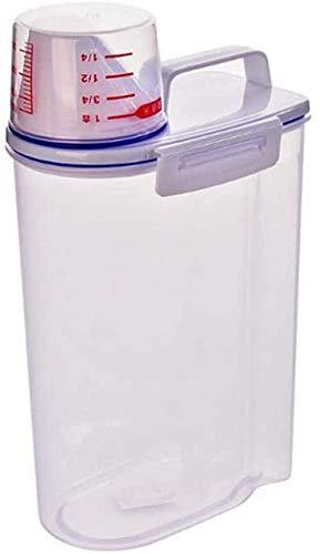 Recipientes de Cereales Barril de arroz hermético Dispensador de Grano seco Cilindro de arroz Grueso Caja de Almacenamiento de Alimentos Transparentes Caja de azúcar de harina