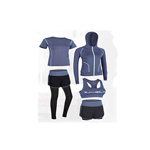 WYWZDQ - Conjunto de pantalones cortos de deporte para mujer, supersuaves, de secado rápido, impermeables, para entrenamiento, antideslizantes, para interior y exterior, para cuatro estaciones, color azul marino, tamaño extra-large