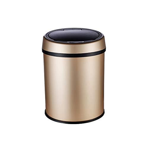 XINF Intelligente sensor vuilnisbak huishouden met deksel champagne goud (6L, 9L, 13L) badkamer woonkamer keuken sanitaire emmer Recycling bin prullenbak recycling bin opslag bak