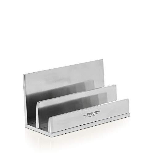 Accessorio Scrivania Porta Lettere | Spalding & Bros | 862832-Alluminio