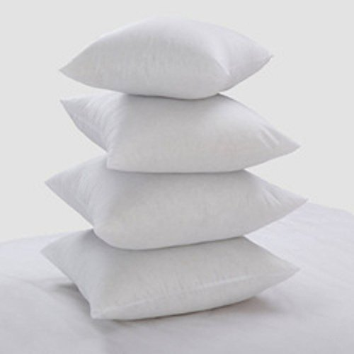 Set of 4 New White Hollowfibre Cushion Pad Inner Insert Double Stitched Seams - Non Allergenic - Machine Washable by CosyWinks 20' x 20' (50cm x 50cm)
