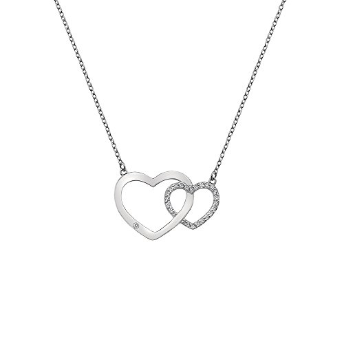 Hot Diamonds Bliss Interlocking Heart Necklace of Length 45cm