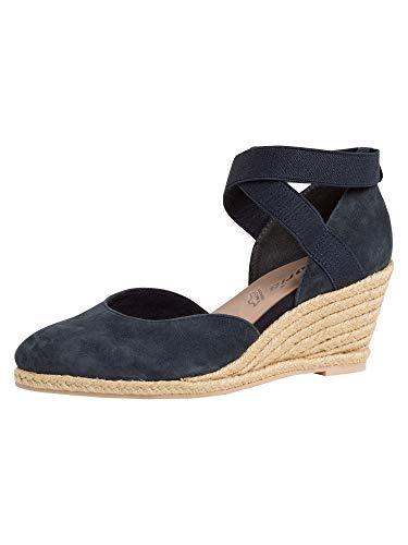 Tamaris Damen Keilpumps, Frauen Pumps,Touch It-Fußbett,stöckelschuhe,Keilabsatz,Wedge-Heel,Ladies,Women's,Woman,Court,Shoes,Navy,39 EU / 5.5 UK