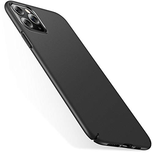 CASEKOO Slim Fit Compatible with iPhone 11 Pro Max Case, [Ultra Thin] Hard Plastic Phone Cases, Durable Protective [Anti-Fingerprint] Cover Designed for iPhone 11 Pro Max 6.5-inch 2019, Space Black