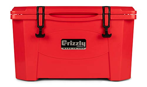 Grizzly 40 Cooler, Red, G40, 40 QT