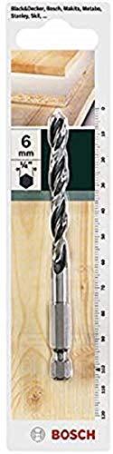 Bosch Holzbohrer mit 1/4 Zoll-Sechskantschaft (Ø 6 mm)